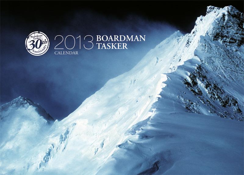 2013 Boardman Tasker Calendar Cover. Image of the upper reaches of the North East Ridge of Everest. Photo: Chris Bonington., 171 kb