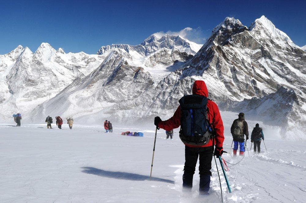 Descending from Mera Peak, Nepal, 177 kb