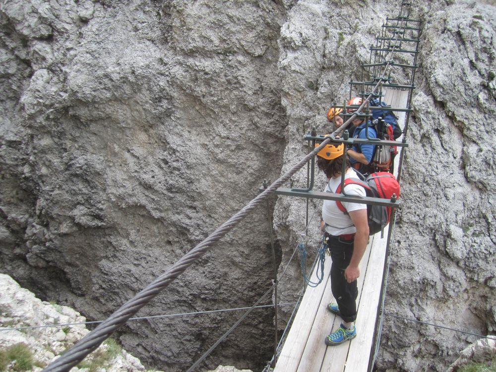 High on the via ferrata Brigata Tridentina, 201 kb