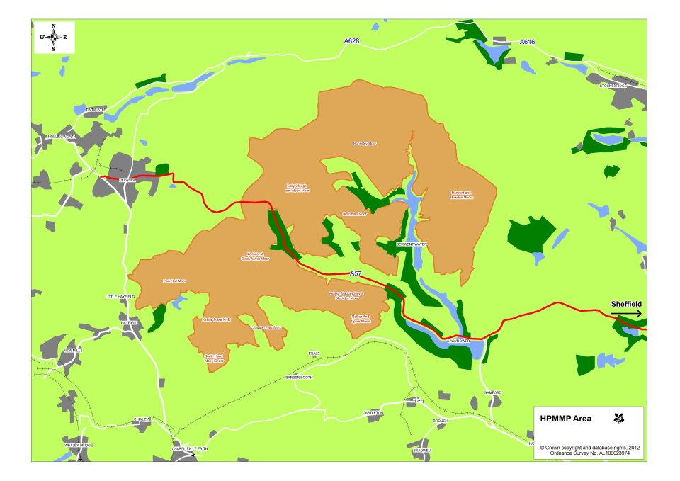 High Peak Moors project area, 89 kb