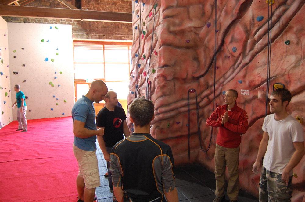Steve McClure coaching at the Barn, 172 kb
