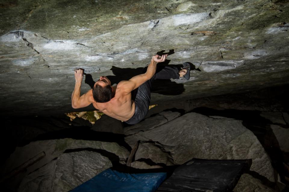 Carlo Traversi on Remembrance of things past, 8B+, Magic Wood, 79 kb