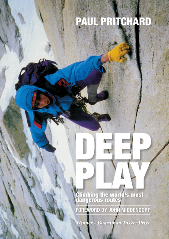 Deep Play Cover Image: Pritchard on the North Tower of Paine., 229 kb