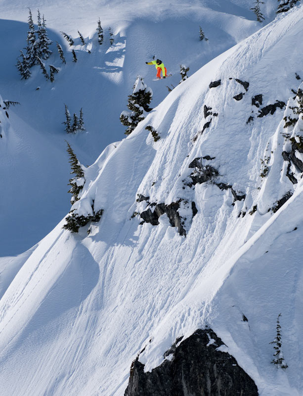 Lonnie Kauk snowboarding in Whistler backcountry, Canada, 113 kb