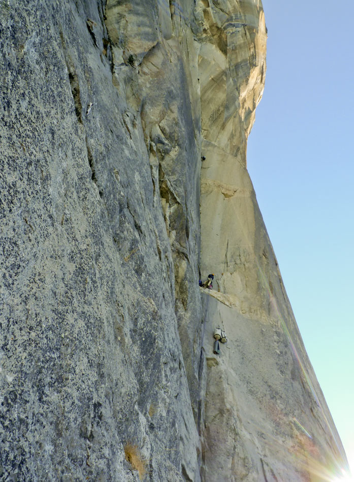 The Silver Fish Corner: the first of many hard corners on the Muir, 5.13b, 165 kb