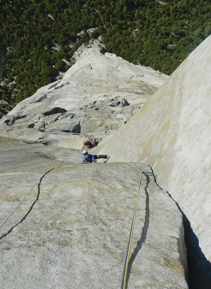 One of the 'easy pitches' on the Pre-Muir - a 12a layback., 183 kb