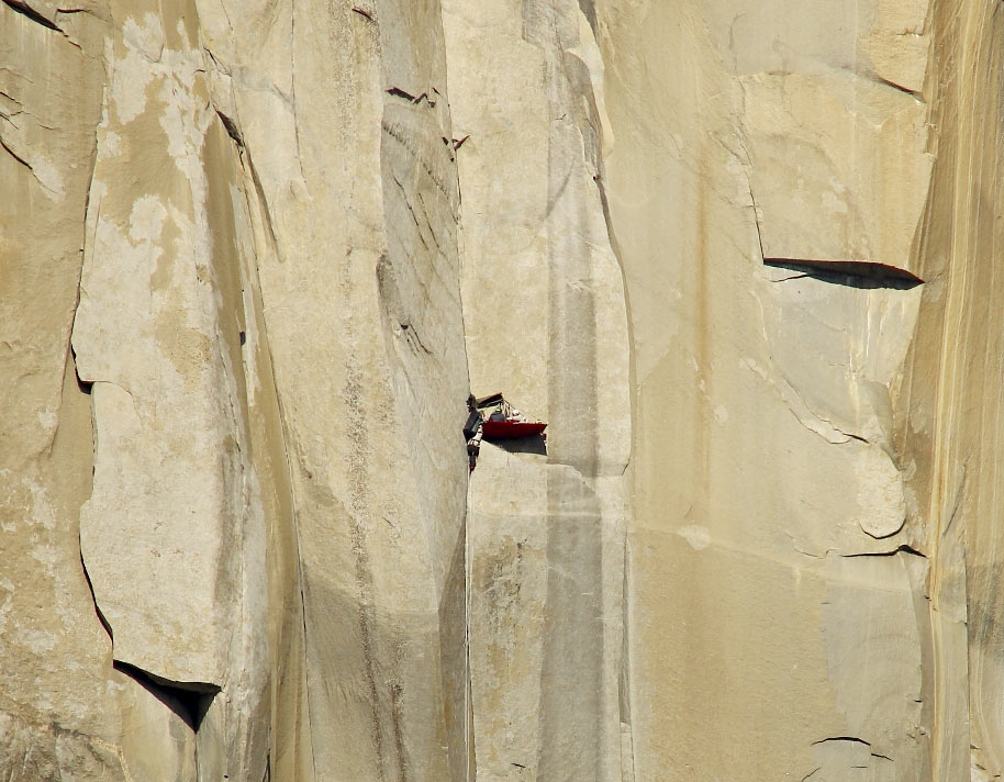 The corners on the Muir Wall. Photo: Tom Evans, 128 kb