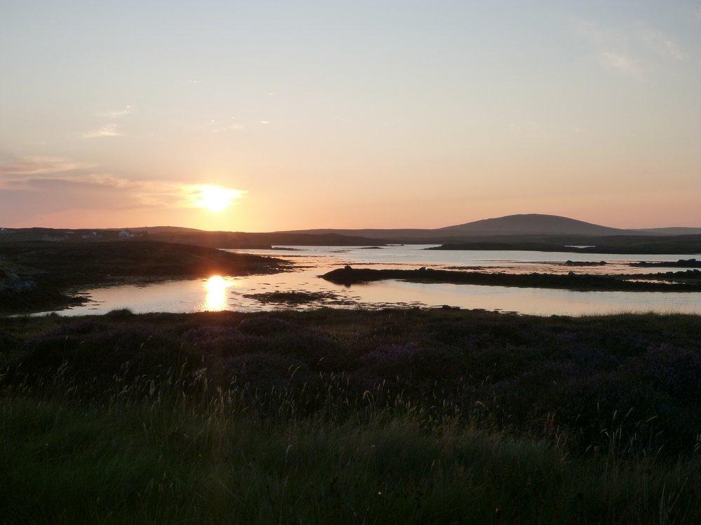 Sun setting North Uist, 73 kb