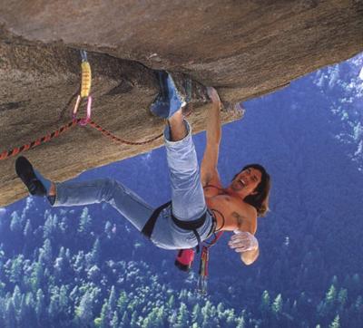 "Ron Kauk and his blue jeans on Separate Reality, Yosemite: ""John Wayne never wore Lycra"", 138 kb"
