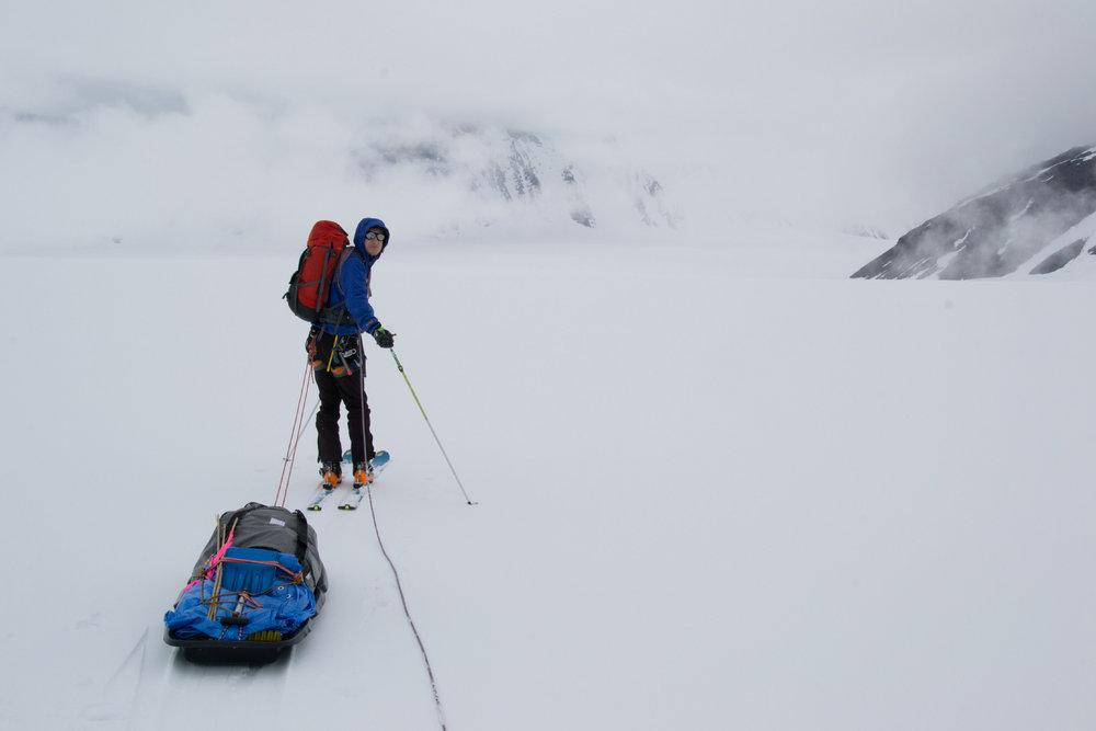 Boriz Khorz on the way to Fraser glacier, 55 kb