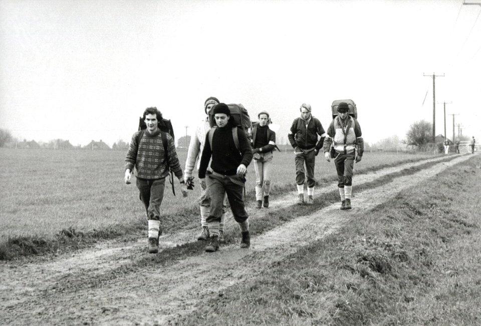 Tour de Trigs - a vintage pic from the 1980s, 121 kb