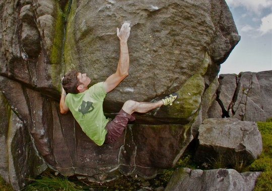 Tom Peckitt on The Uncertainty Principle, 8A+, 53 kb