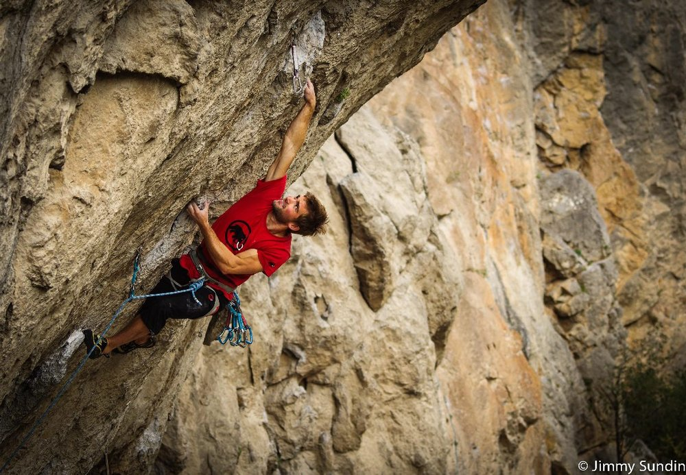 Cailean Harker on his way to first 8a onsight - Segre, 210 kb
