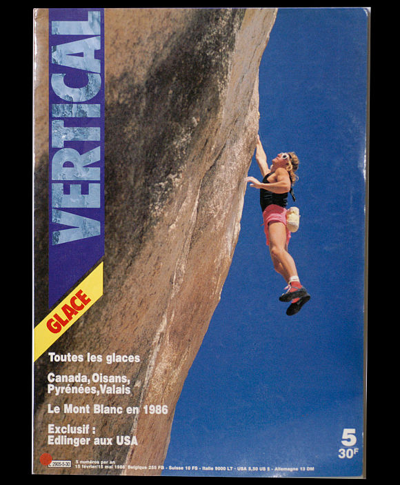Patrick Edlinger on the cover of Vertical Magazine 5, solo in Joshua Tree, 97 kb