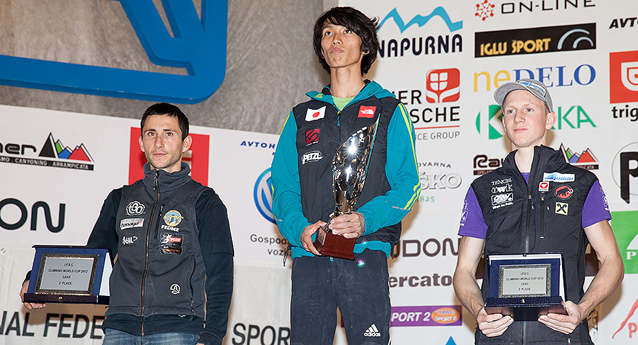 2012 WC Overall Lead winners - Ramon Julian, Sachi Amma, Jakob Schubert, 236 kb