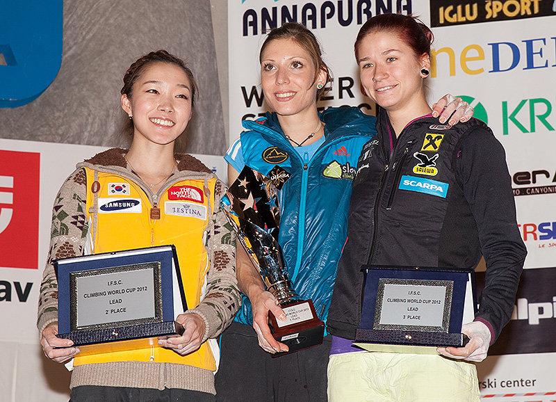 2012 WC Overall Lead winners - Jain Kim, Mina Markovic, Johanna Ernst, 180 kb