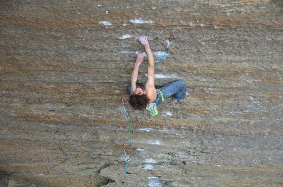 Adam Ondra on The Golden Ticket, 8c+, Red River Gorge, 112 kb