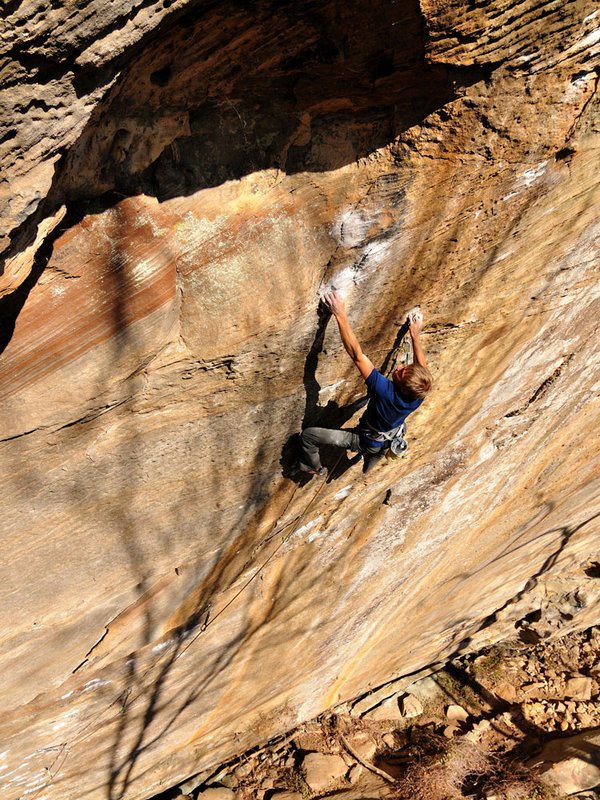 Alexander Megos on Pure Imagination, 8c+, Red River Gorge, 207 kb