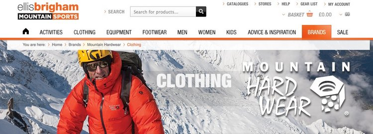 Mountain Hardwear at Ellis Brighams, Products, gear, insurance Premier Post, 4 weeks @ GBP 70pw, 57 kb