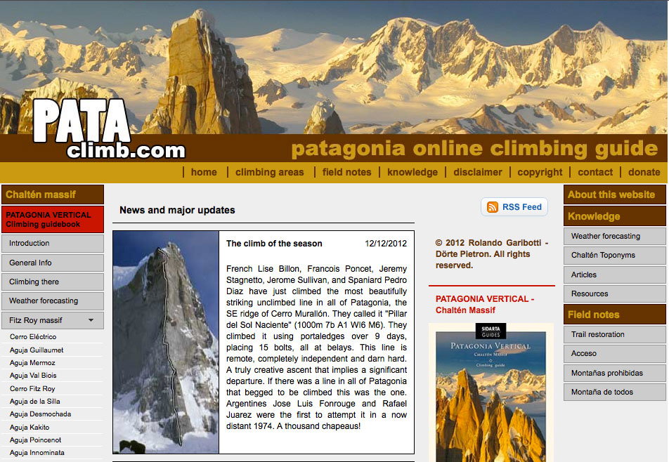 Pataclimb Website - More News info and new guidebook!, 210 kb