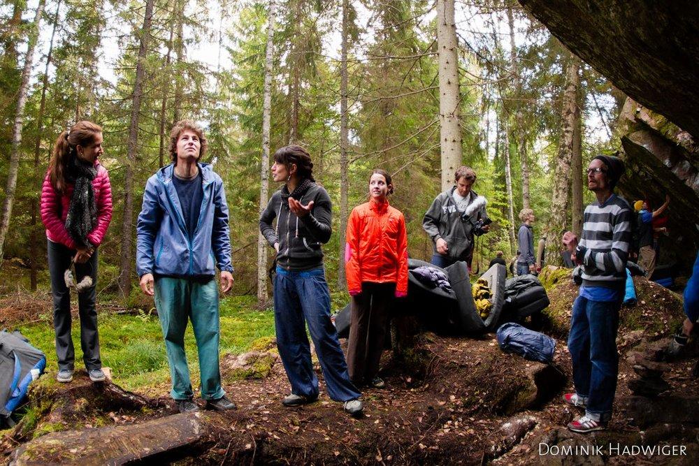Invited boulderers at Fallataket, Västervik, 224 kb