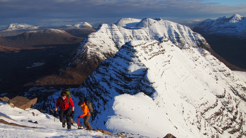 Approaching the summit of Sgurr Mhor from the Horns of Alligin, 163 kb