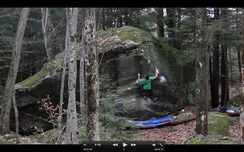 Jimmy Webb flashing Sit and deliver, 8A+, at Pawtuckaway, NH, 155 kb