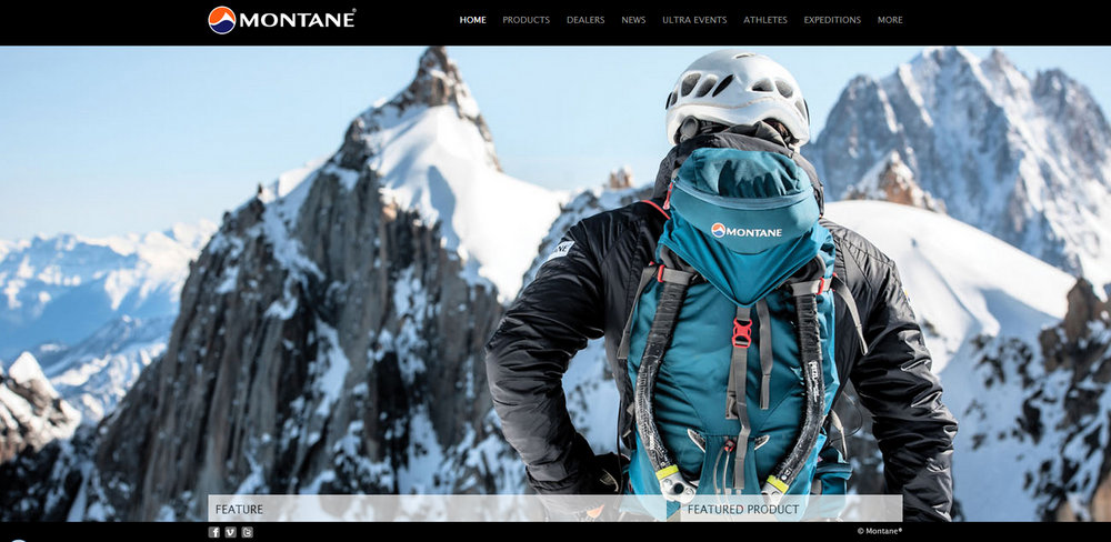 www.montane.co.uk homepage, 133 kb