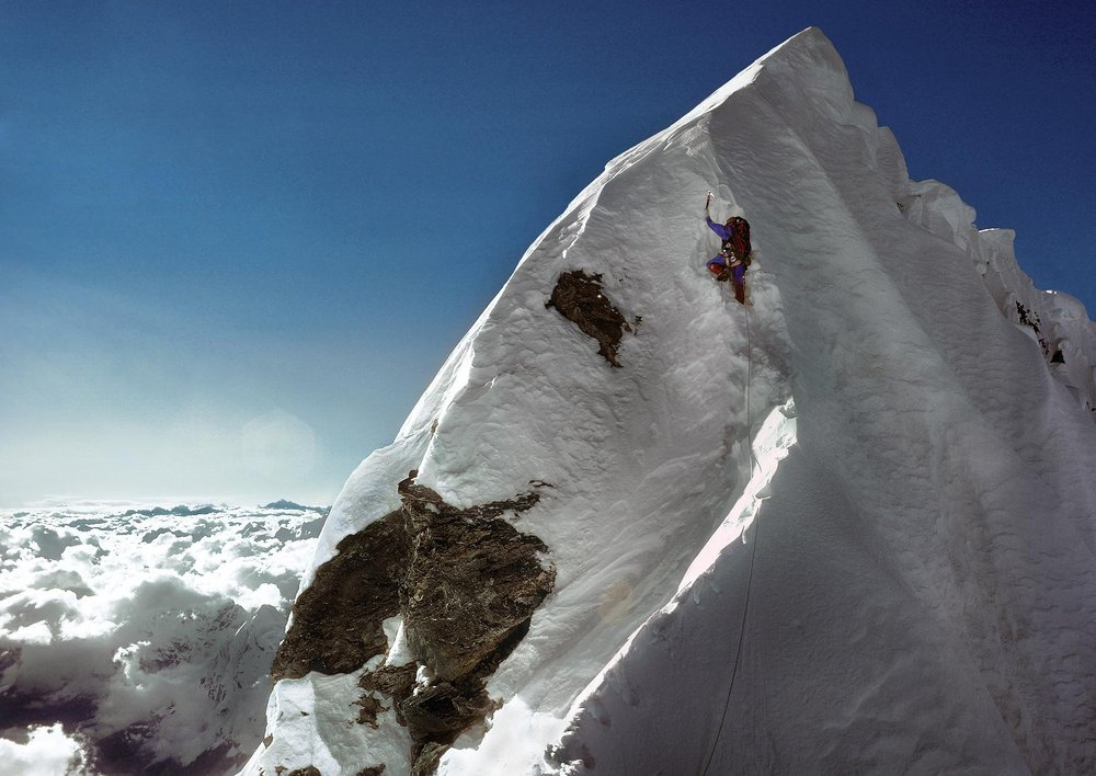 Dougal Haston on the Hillary Step 1975, 112 kb