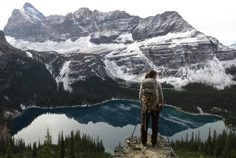 Lake O'Hara from Huber Ledges - Canadian Rockies, 170 kb