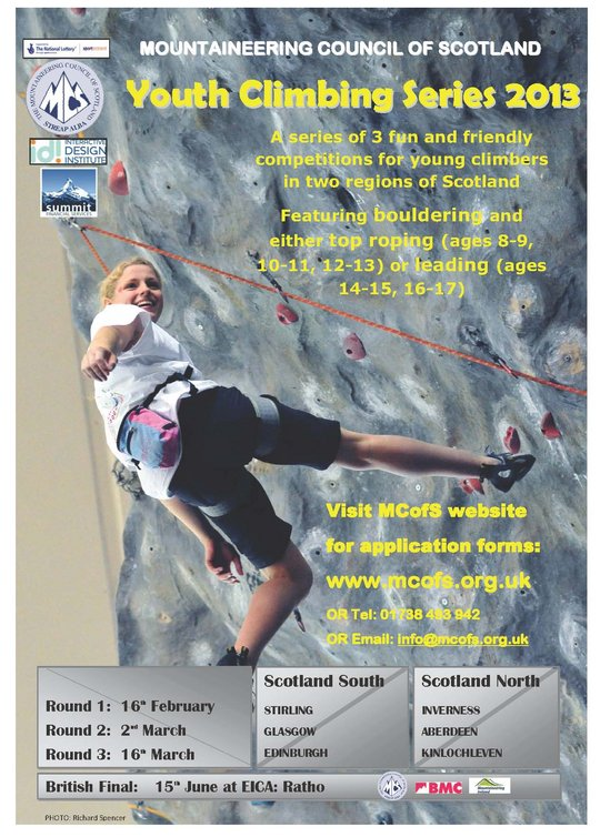 The Scottish Youth Climbing Series (YCS) 2013 #1, 106 kb