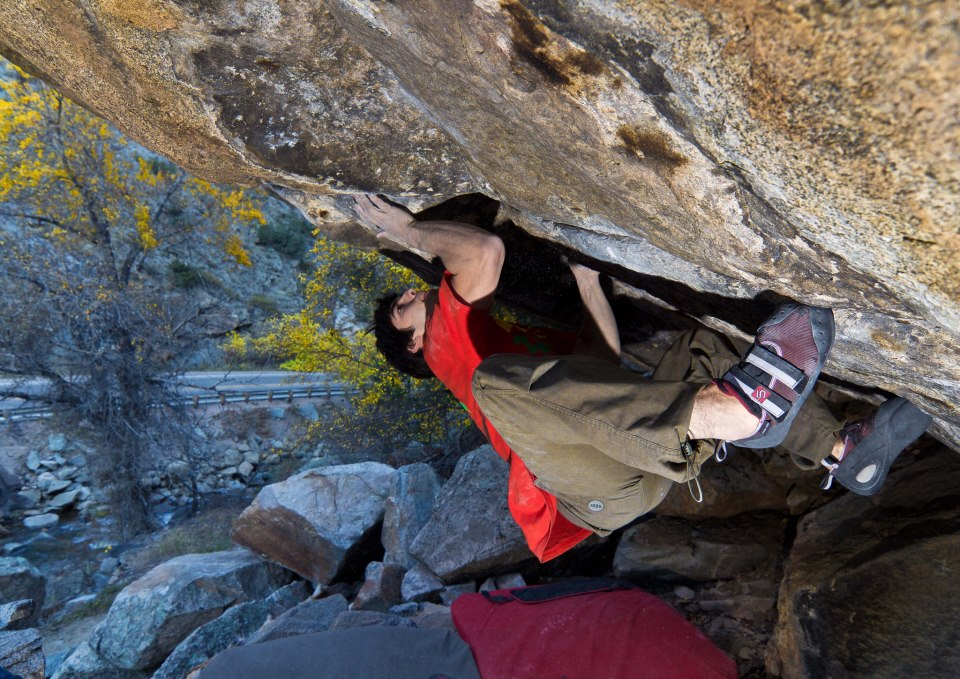 Jon Cardwell on The Game, 8C, Boulder canyon, 191 kb