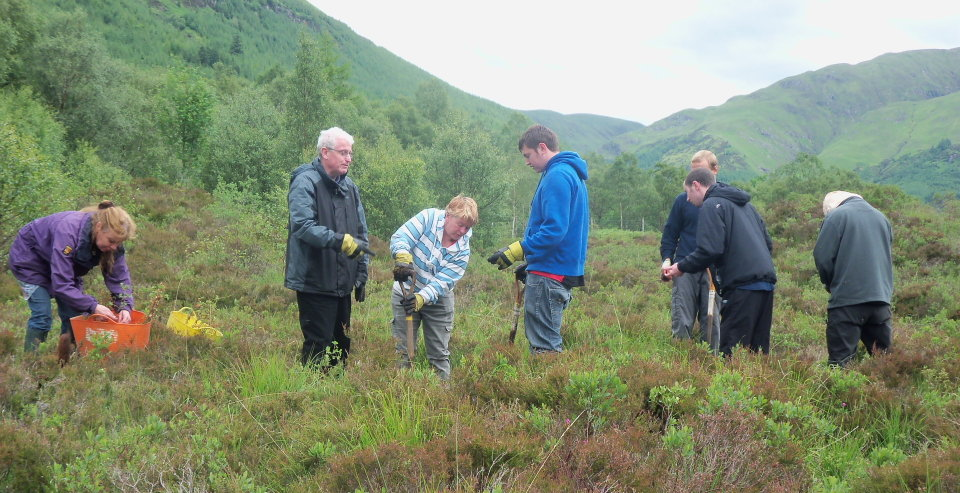 Last year's group working at Kintail, 140 kb