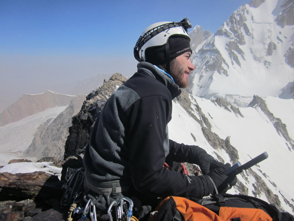 Not a summit? Not a problem. Azwan enjoys the view at the top of our last route., 120 kb