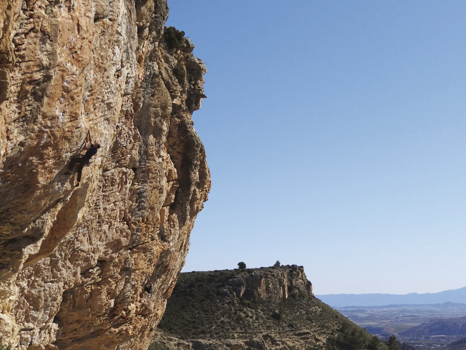Libertad (7b+) at Mula from the new Costa Blanca Rockfax, 136 kb