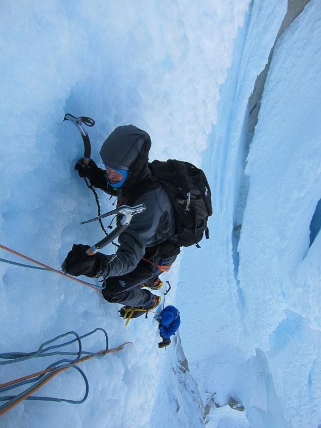 Dan Donovan and Stu McAleese on the Cerro Torre Headwall, 59 kb