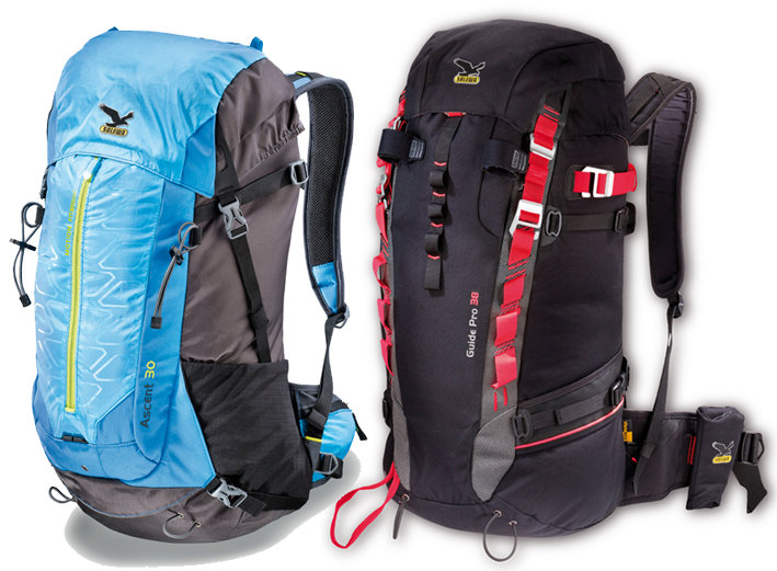 The Ascent 36 and the Mountain Guide rucsacs, 85 kb