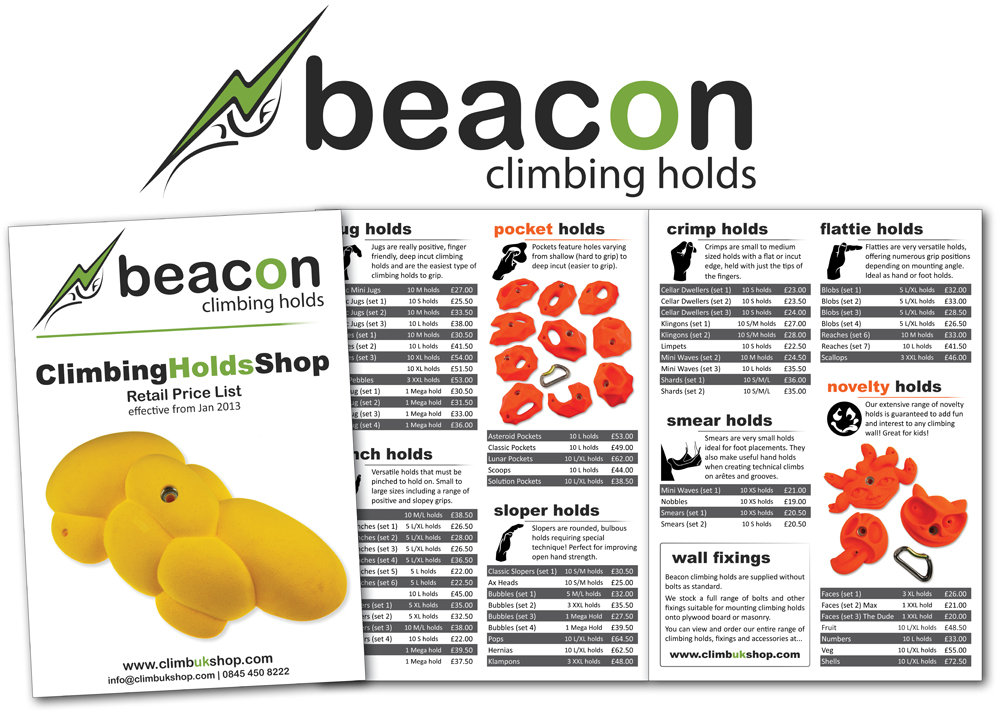 The latest range of Beacon Climbing Holds #1, 176 kb
