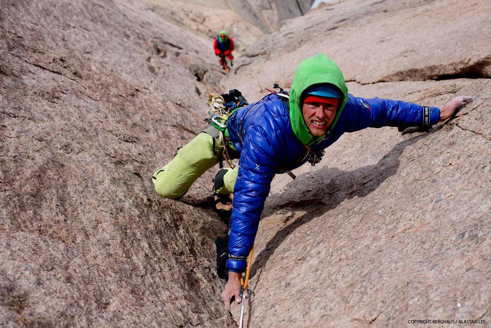 Leo climbing on the headwall, 243 kb