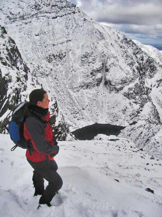 On top of O'Shea's Gully in the Reeks, looking into Cummeenoughter, 110 kb
