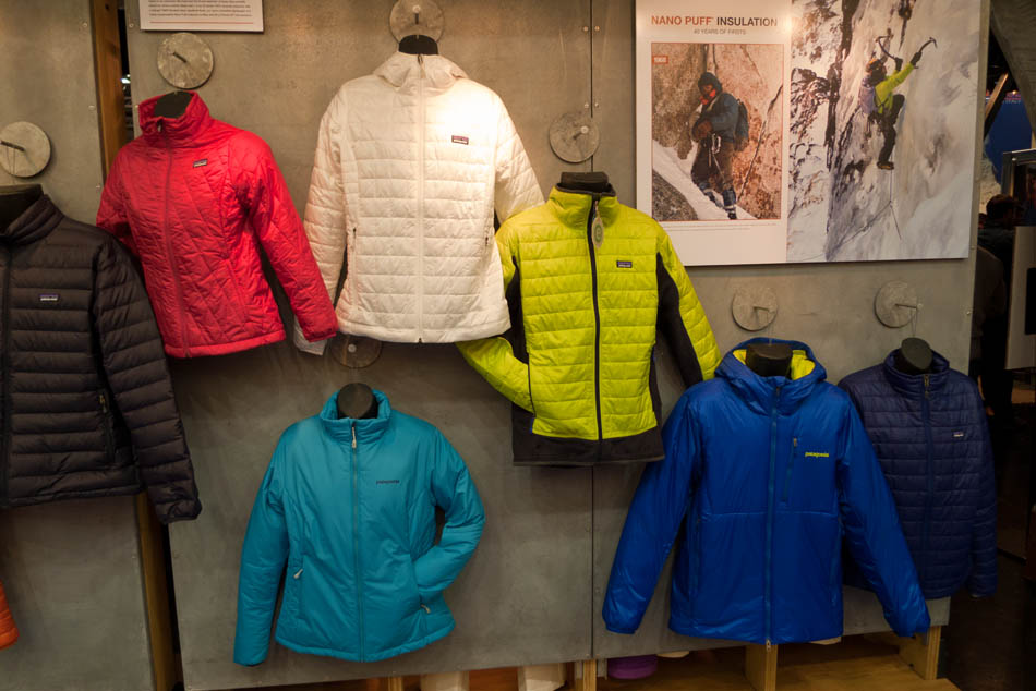 Patagonia's new style Nano Puff (top, white) and Das Parka (bottom, blue and yellow), 107 kb