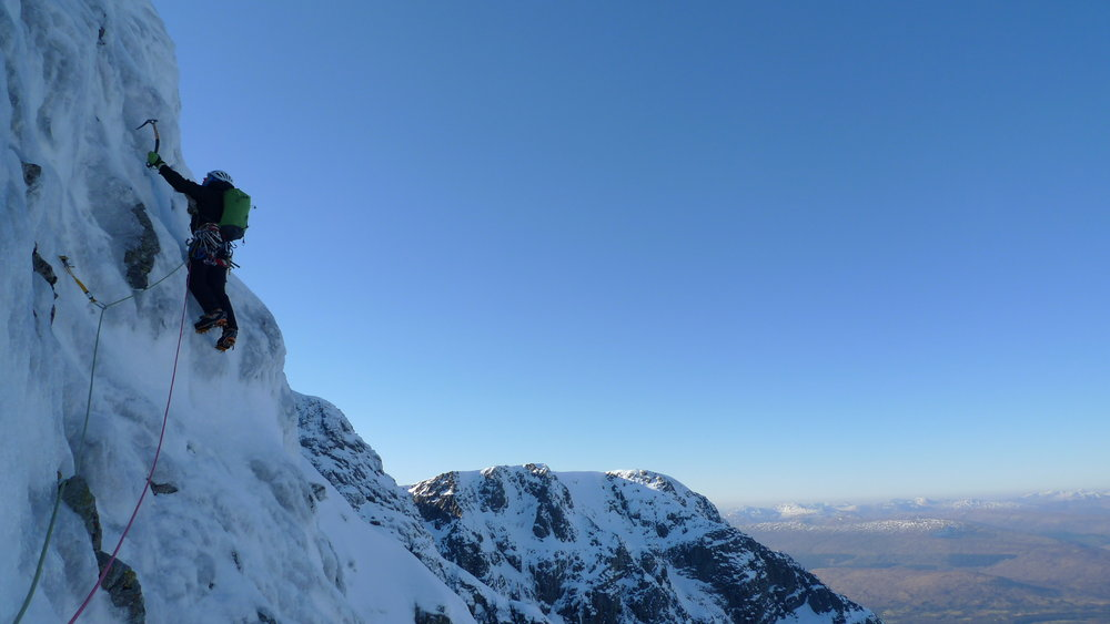 Just after the Basin on Orion Face Direct, Ben Nevis, 73 kb