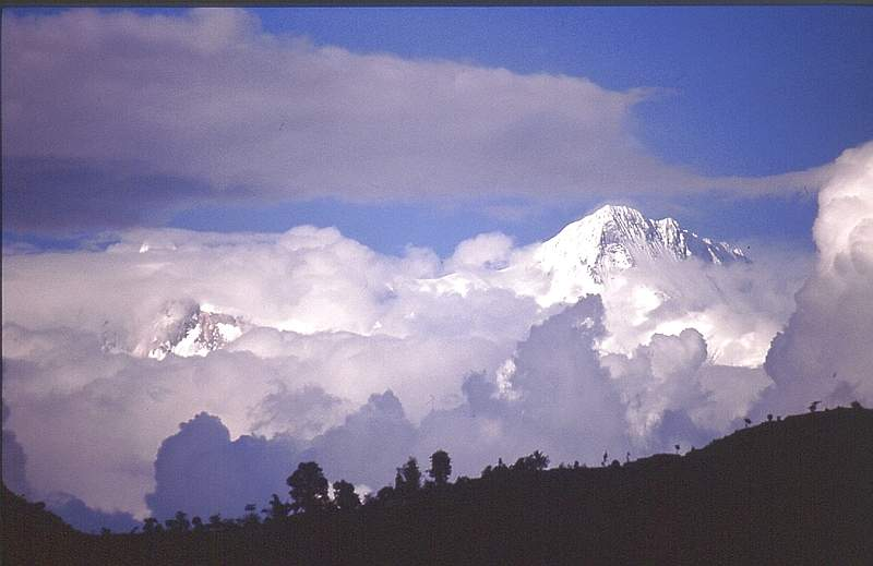A storm building in the Himalaya, Nepal, 33 kb