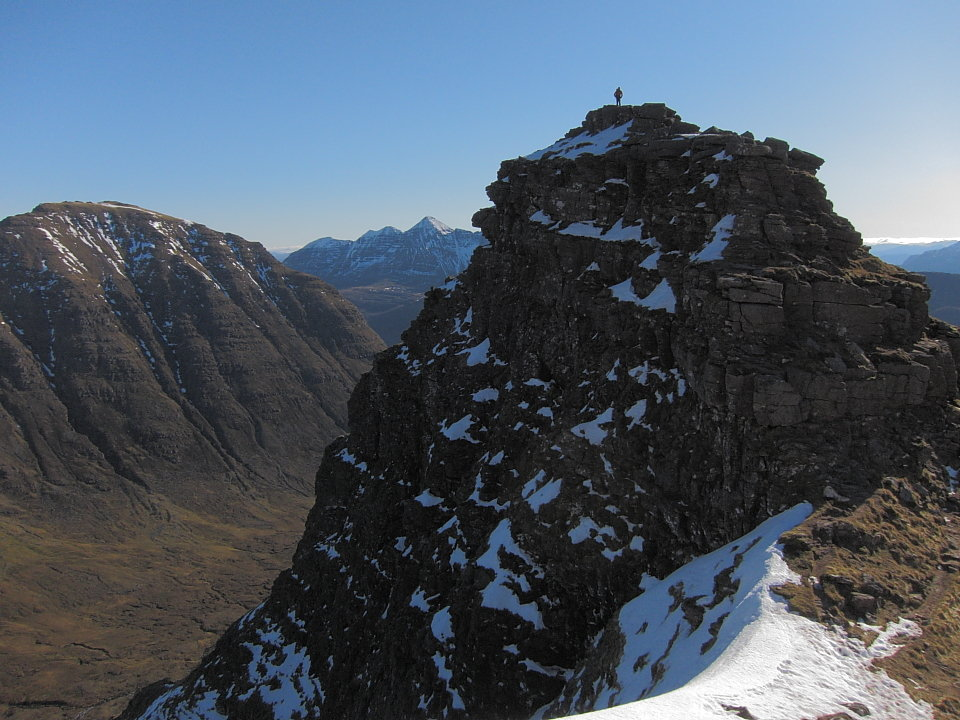 Beinn Dearg and Liathach from the first Horn, Beinn Alligin, 143 kb