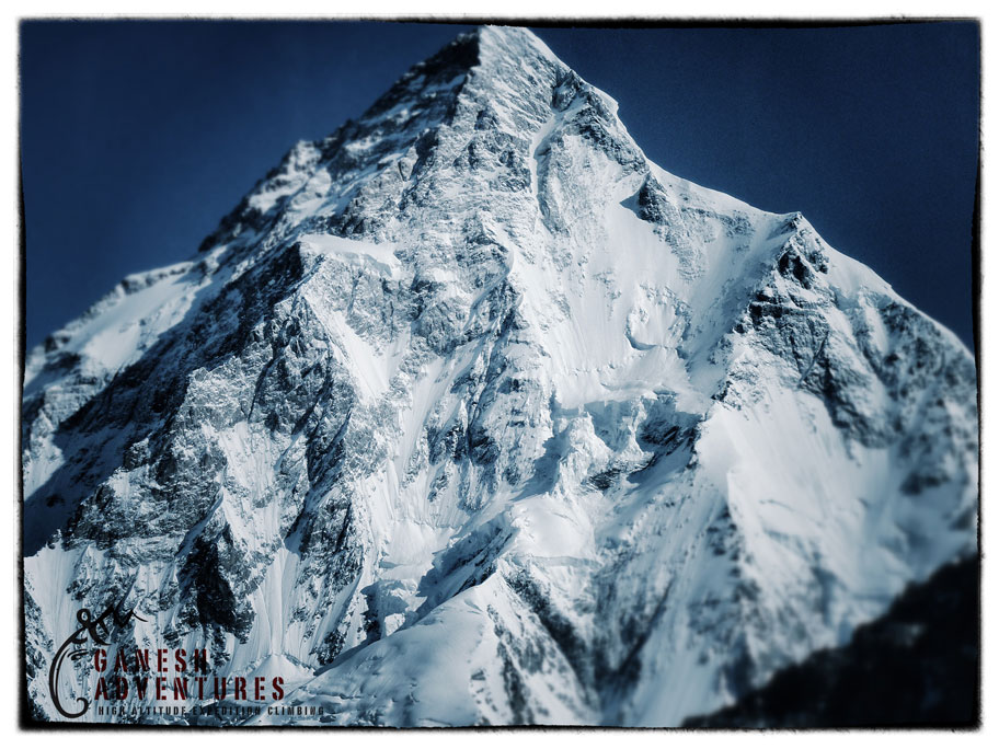The massive south face of K2, 8611M, Pakistan, Karakoram, 162 kb