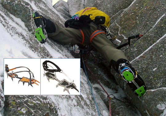Black Diamond Stinger and Petzl Lynx Crampons, 93 kb