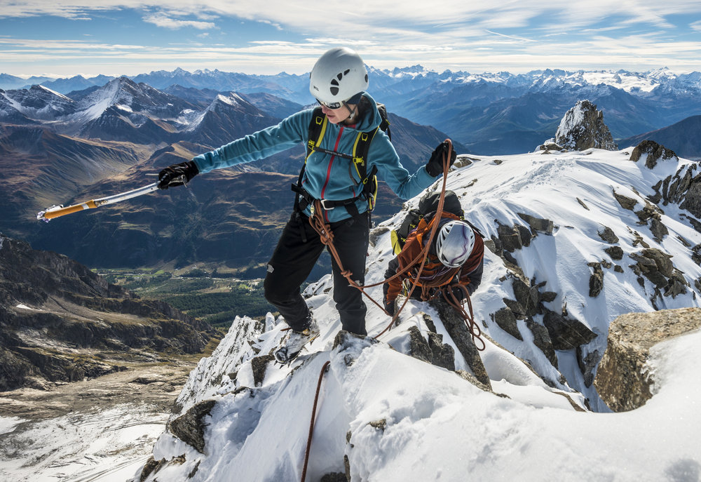 Tamsin Gay and Tim Blakemore on Mont Blanc, 232 kb