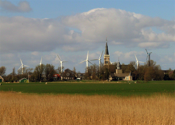 Unchecked wind turbines in Friesland, Netherlands, 77 kb