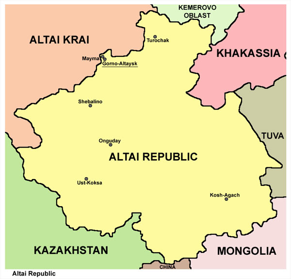 Altai Map, 48 kb