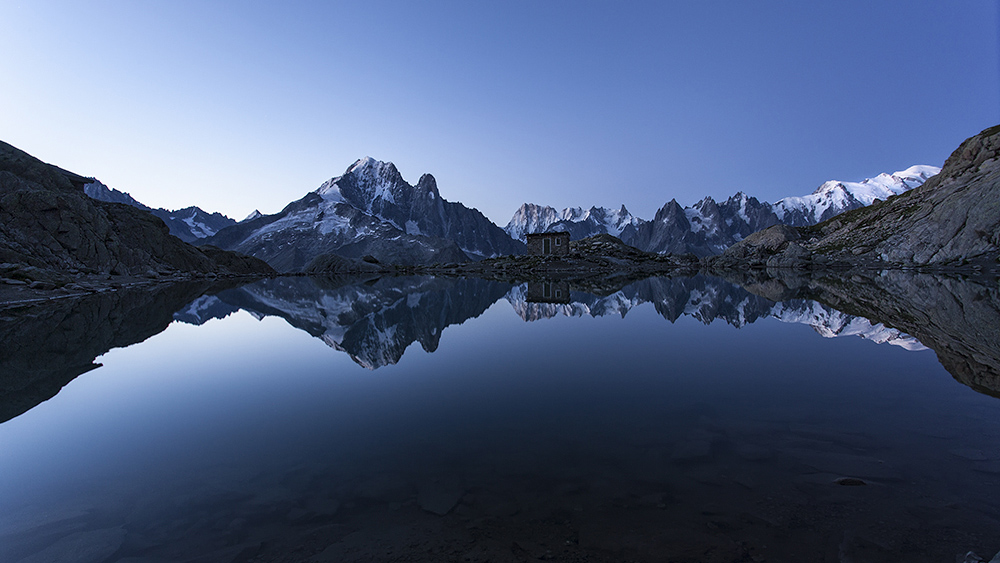 Lac Blanc...dawn glow, 235 kb